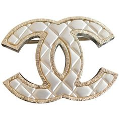 b6bcdb96c9f Gold Metal Pin brooche CHANEL (57.840 RUB) ❤ liked on Polyvore featuring  jewelry