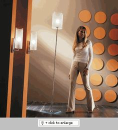 """XILO FLOOR LAMP 11""""Diameter  Glass pendants and floor lamps that provide ambient or direct lighting  Materials 