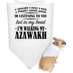 I Might Look Like Im Listening To You But In My Head Im Walking My Azawakh Dog Bandanas