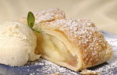 Apple strudel is associated with the Austrian cuisine, but it has a long tradition in southern Germany as well. Apfelstrudel is one of the most enjoyed German desserts. Austrian Desserts, Austrian Cuisine, German Desserts, Austrian Recipes, Apple Desserts, Apple Recipes, Sweet Recipes, Austrian Food, German Apple Strudel Recipe
