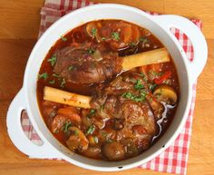 This lamb shank stew recipe is cooked slow and on low and produces a tender meat stew. Lamb Shank Stew Recipe from Grandmothers Kitchen. Lamb Shank Stew, Slow Cooked Lamb Shanks, Lamb Shank Recipe, Braised Lamb Shanks, Lamb Stew, Lamb Recipes, Slow Cooker Recipes, Paleo Recipes, King Pro Pressure Cooker Recipes