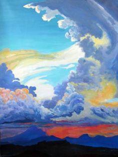 """Saatchi Art Artist MaryAnn Ead; Painting, """"Monsoon Mambo"""" #art"""