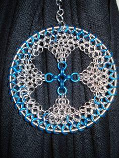 Blue Chainmail Ornament by Loki-Craft.deviantart.com on @deviantART