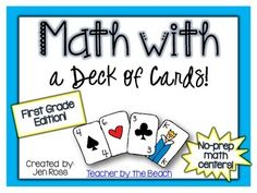This pack is filled with OVER TWENTY activities that you can have ready for any fast finisher or math center! All of these activities can be used for number sense, addition, and subtraction in First Grade - or as a review in 2nd grade!All you need is a deck of cards!