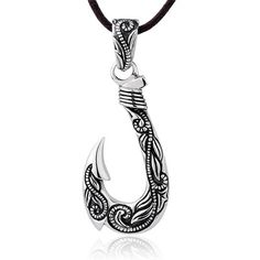 925 sterling silver vajra with diamond charms pendant necklace for 925 sterling silver vintage mens punk fishhook pendant necklace aloadofball Images
