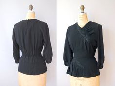 1940s Blouse / Forever Young Blouse / 40s