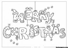Merry christmas print out coloring pages - Printable Coloring Pages For Kids