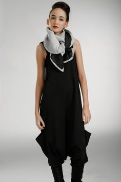 double sided scarf black and white shawlWrap Shawl by Frogaspect