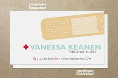 Band Aid Business Cards by Sheila Sunaryo at minted.com - so cute