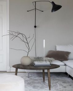 A Serene 'Japandi' Style sitting room in a Family Home in Western Norway / mantis light, hoof table. Scandinavian Interior Design, Scandinavian Home, Norwegian House, Norwegian Style, Living Room Goals, Step Inside, Interior Design Inspiration, Decoration, Beautiful Homes
