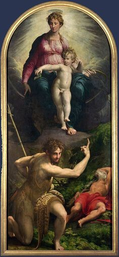 Vision of Saint Jerome, Parmigianino, 1526-1527, oil on panel, National Gallery…