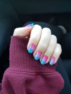 Inspired By A Flag Bi Pride Flag Manicure Nails By Kimber Pinterest Nails Nail Art And