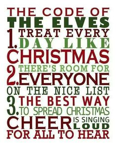 Code of Elves. three rules to live by