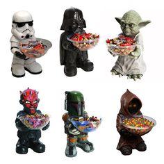 Star Wars Süßigkeiten Halter Darth Vader Yoda Stormtrooper Boba Fett Darth Maul