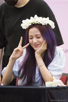 7 Photos of BLACKPINK Jisoo's Enchanting Purple Hair Will Put You Under Her Spell — Koreaboo