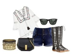 """""""21"""" by vicinogiovanna ❤ liked on Polyvore featuring ZIGIgirl, Talitha, Marc Jacobs, Ray-Ban and Daytrip"""