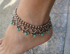 Tornozeleiras - bijuteria artesanal                                                                                                                                                      Mais