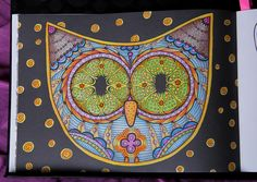 #adultcoloringbook #colormeditation #owl #paradiorsolya #pandalaszigetek
