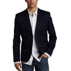 Likes - but not the brass buttons. Ben Sherman, Sports Coat And Jeans, Mens Sport Coat, Sport Coats, Boy Fashion, Mens Fashion, Blazer Outfits Casual, Business Casual Men, Well Dressed Men