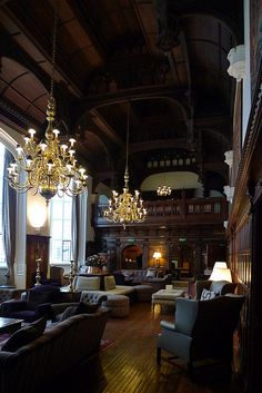 Danesfield House Hotel & Spa, Marlow-On-Thames, Buckinghamshire, United Kingdom - Great Hall by Jay Seedy, via Flickr