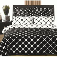 California King 8Pc Black & White Bloomingdale Duvet cover and Sheet Set     You are invited to experience the Comfort, Luxury, and Softness of our Luxurious Bloomingdale Bedding. Silky Soft made from 100% Egyptian Cotton with 400 Thread count woven with superior single ply yarn. Quality linens like this one are available only at selected Five Stars Hotels.    Price: $117.99