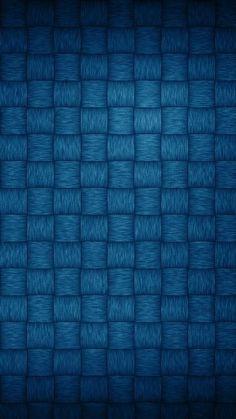 Blue Basket Weave Phone Wallpaper