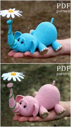 The Sweetest Crochet Elephant Patterns To Try You'll love our Elephant Crochet Post that includes Elephant Crochet Rug, Elephant Crochet Pillow, Elephant Crochet Blanket and Elephant Crochet Amigurumi Crochet Elephant Pattern Free, Crochet Amigurumi Free Patterns, Crochet Animal Patterns, Crochet Bunny, Stuffed Animal Patterns, Crochet Animals, Crochet Dolls, Free Crochet, Flower Crochet