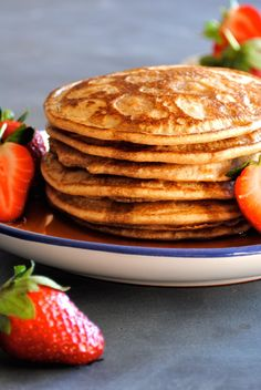 Light N' Fluffy Buckwheat Pancakes   These 4 ingredient pancakes are super quick and easy to make for Sunday Morning Brunch. Not to mention they're Gluten Free, Dairy Free, Nut Free, Sugar Free and Paleo Friendly