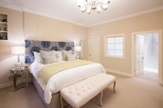 Lower ground floor master bedroom with en suite Holiday Accommodation, Ground Floor, Catering, Master Bedroom, Flooring, Luxury, Furniture, Home Decor, Master Suite