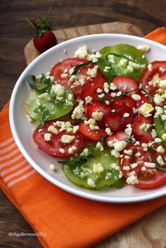 Mango & Tomato: Strawberry, Tomato, Basil & Aged Cheddar Salad Recipe: Produce Directly From a Farm