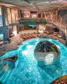 Welcome to Finland! You're looking at the incredible Hotel & Spa Resort Järvisydän in Rantasalmi, Finland. Located in the Finnish Lake… Luxury Swimming Pools, Luxury Pools, Dream Pools, Indoor Swimming Pools, Swimming Pool Designs, Luxury Spa, Luxury Travel, Dream Home Design, My Dream Home