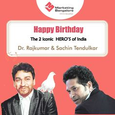 One Day, Two legends, Huge Fan base. Happy Birthday to these Super stars. Sachin Tendulkar, Digital Marketing Services, Superstar, Legends, Happy Birthday, Anniversary, Hero, Base, Stars