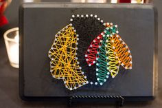 Chicago Blackhawks Nail and String Art by ForTheLoveOfDetail on Etsy