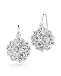 Roberto Coin MINI MAURESQUE DIAMOND EARRINGS 18K White Gold Diamond Earrings Approx. 1.33 total carat weight