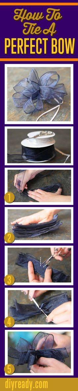 DIY Perfect Bow diy craft crafts diy crafts kids crafts diy bows kids diy craft bow hair crafts easy craft ideas easy bow