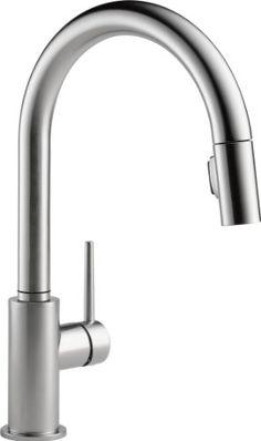 Delta 9159-AR-DST Single Handle Pull-Down Kitchen Faucet, Arctic Stainless DELTA FAUCET http://www.amazon.com/dp/B0050EN8M8/ref=cm_sw_r_pi_dp_zMgTtb06HQYTEAEW