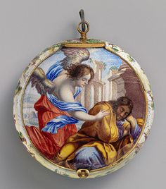 Watch, ca. 1645-50Movement by Jacques Goullons, or Coullons (French, recorded 1626, died 1671)Case and dial: painted enamel on gold; Movement: gilded brass, steel, partly blued, and silver