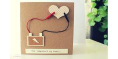 Kartka dla mężczyzny. Nawet akumulator może być romantyczny. Może spodoba się też Twojemu chłopakowi, mężowi? You jumpstart my heart. Dla fana motoryzacji. Papier eco, serce, ploter, klamerki/ Card, boyfriend, husband,heart, cardmaking, silhouette cameo