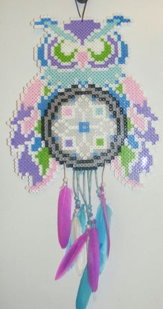 Perler bead dream catcher - pinned by pin4etsy.com