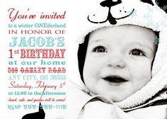 Winter ONEderland Birthday Invitation - Winter Wonderland Snowflake. $15.00, via Etsy.