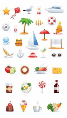 icons set 02 vector