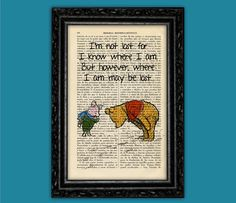 Winnie the Pooh Nº16 Piglet vintage book Art Print - E H Shepard Art Quotes Original Dorm Room Print Gift Wall Decor