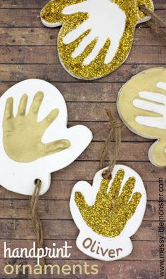 Clay Baby Handprint Ornament - The Cutest Baby Keepsake! - - Clay Baby Handprint Ornament - The Cutest Baby Keepsake! Christmas Handprint Crafts, Baby Christmas Ornaments, Christmas Clay, Preschool Christmas, Christmas Crafts For Kids, Diy Crafts For Kids, Holiday Crafts, Kids Diy, Baby Handprint Crafts