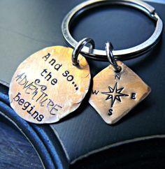 Compass Graduation Keychain