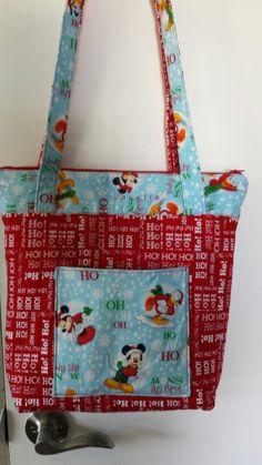 Christmas handbag mickey fabric