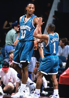 Alonzo Mourning & Muggsy Bogues