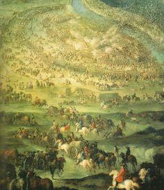 1697 - Batalla de Zenta, con el ejercito austriaco          atacando por sorpresa a los otomanos.