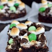 Recipe Submitted By:  Inside BruCrew Life Click on the link below for the Mint Smores Brownies Recipe!   Mint Smores Brownies