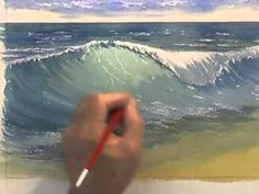 Painting Water in Watercolour - Crashing Waves (Part 2) - YouTube