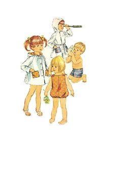 Retro 60s Simplicity Sewing Pattern Child's by AdeleBeeAnnPatterns, $6.50